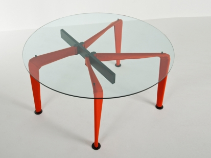 Asymmetrical table 90 Colé