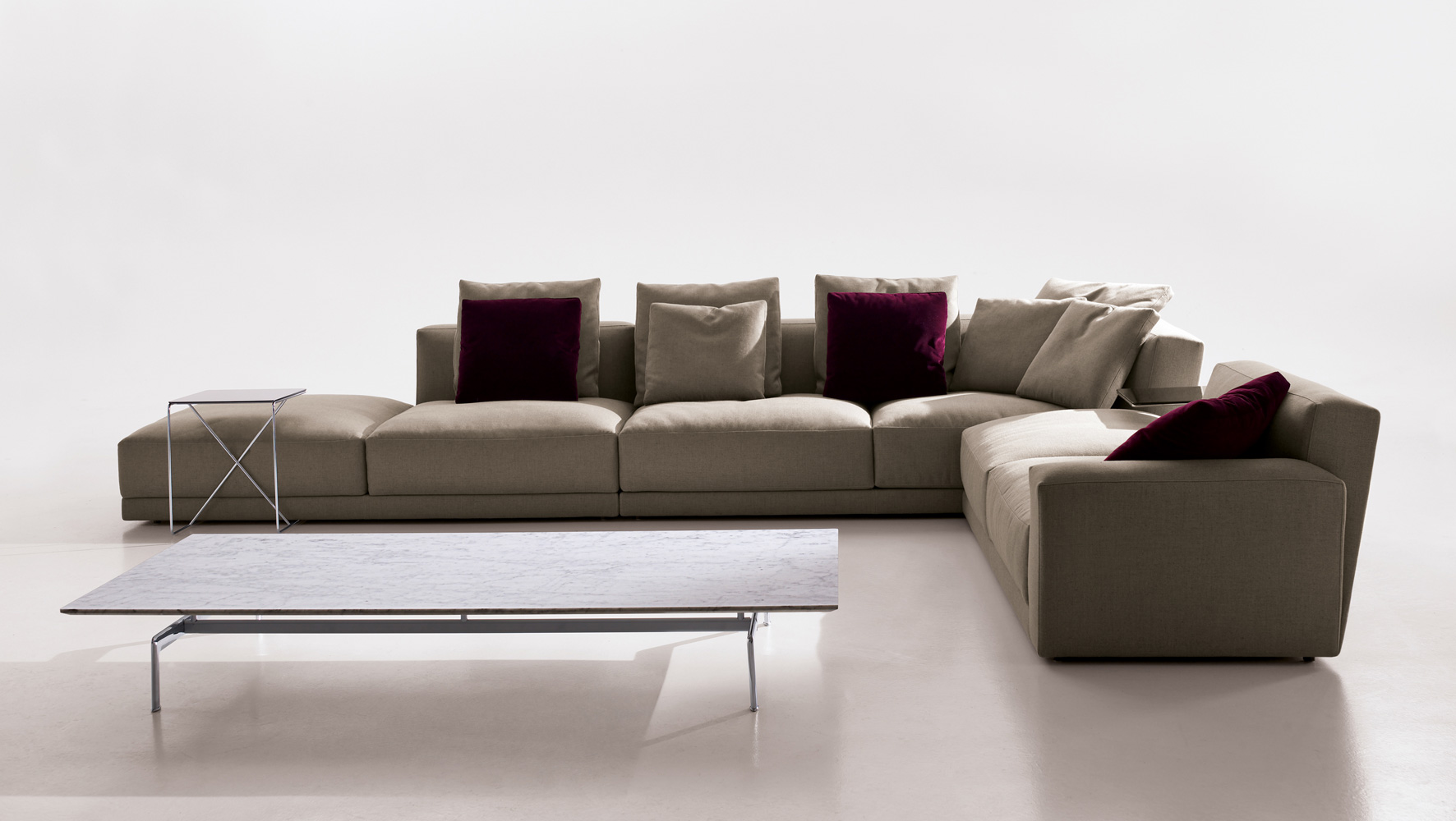 luis modular sofa b b italia muebles productos e interiors. Black Bedroom Furniture Sets. Home Design Ideas